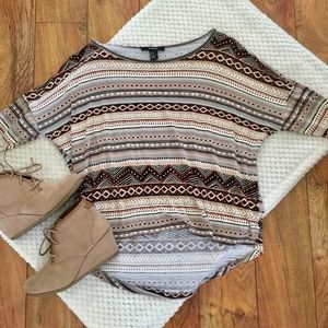 FOREVER 21 • Batwing High Low Aztec